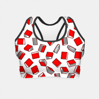 Thumbnail image of Polka Dot Books Pattern II Crop Top, Live Heroes