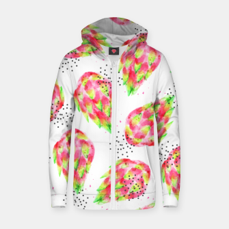 Thumbnail image of Dragon Fruit Cotton zip up hoodie, Live Heroes