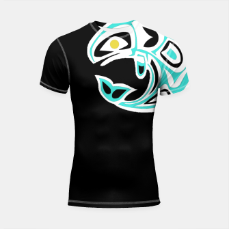 Thumbnail image of Trible Whale Waterwesen Shortsleeve rashguard, Live Heroes