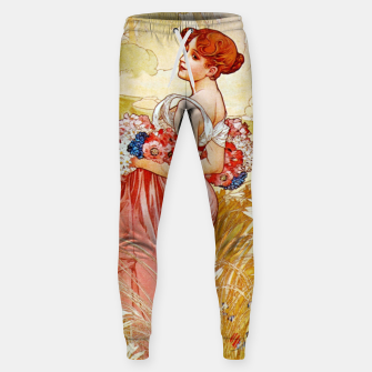 Thumbnail image of Alphonse Mucha Summer Cotton sweatpants, Live Heroes