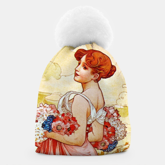 Thumbnail image of Alphonse Mucha Summer Beanie, Live Heroes