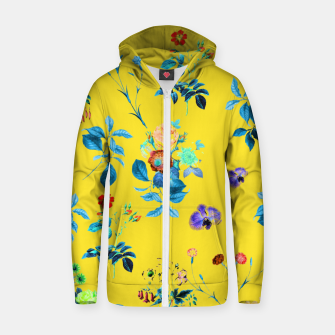Thumbnail image of Floral Shower II Cotton zip up hoodie, Live Heroes