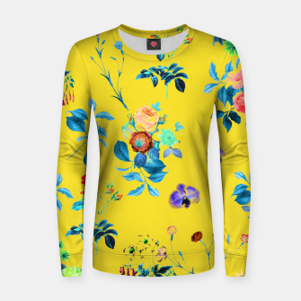 Thumbnail image of Floral Shower II Woman cotton sweater, Live Heroes