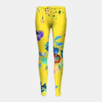Thumbnail image of Floral Shower II Girl's leggings, Live Heroes