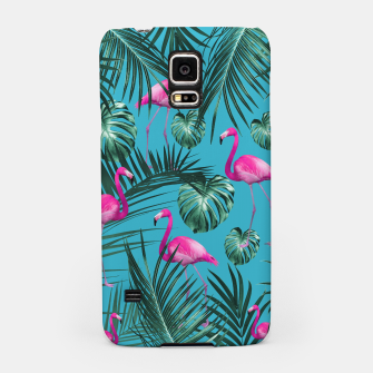 Tropical Flamingo Pattern #4 #tropical #decor #art Handyhülle für Samsung thumbnail image