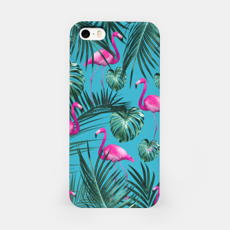 Tropical Flamingo Pattern #4 #tropical #decor #art iPhone-Hülle thumbnail image
