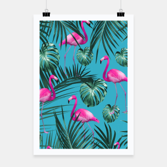 Miniaturka Tropical Flamingo Pattern #4 #tropical #decor #art Plakat, Live Heroes