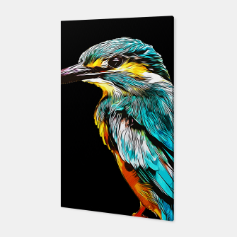 Thumbnail image of gxp eisvogel kingfisher vector art Canvas, Live Heroes