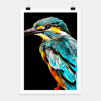 Thumbnail image of gxp eisvogel kingfisher vector art Plakat, Live Heroes