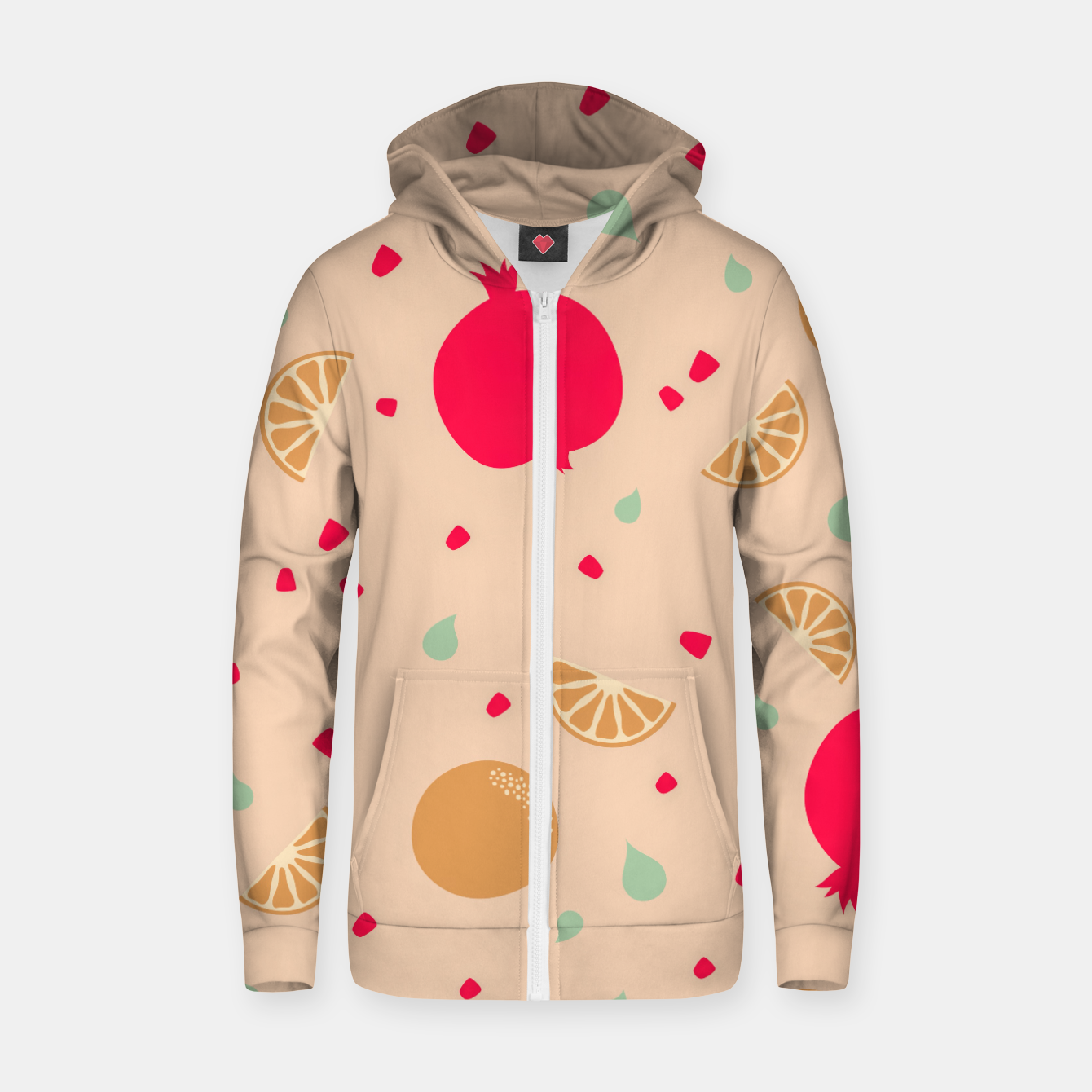 Image of Cocktail on the Beach - Monkey Gland - Cotton zip up hoodie - Live Heroes