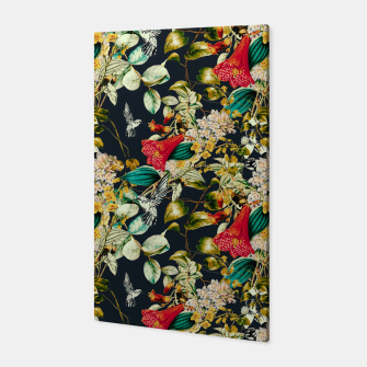 Dark floral vintage III Canvas miniature