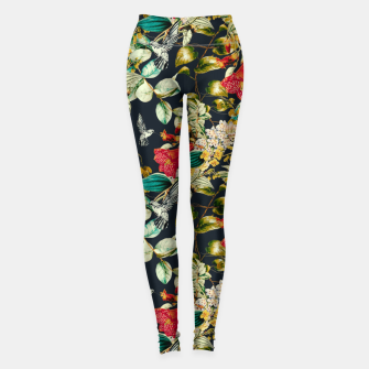 Dark floral vintage III Leggings miniature