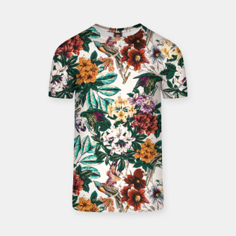 Miniatur Floral and exotic birds-0010 Camiseta, Live Heroes