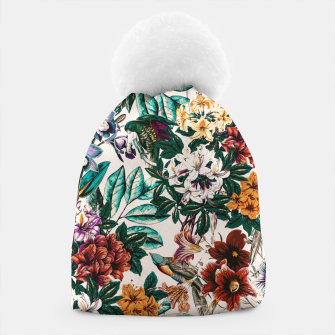 Floral and exotic birds-0010 Gorro miniature