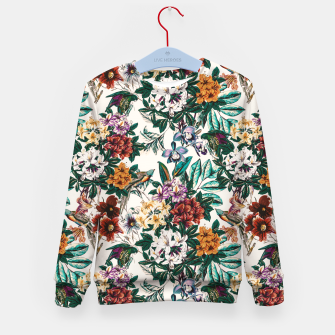 Thumbnail image of Floral and exotic birds-0010 Sudadera para niños, Live Heroes