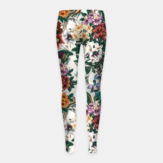 Thumbnail image of Floral and exotic birds-0010 Leggings para niña, Live Heroes