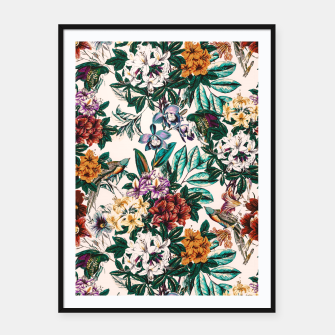 Miniature de image de Floral and exotic birds-0010 Cartel con marco, Live Heroes