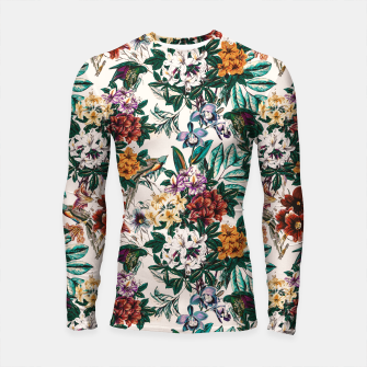 Thumbnail image of Floral and exotic birds-0010 Longsleeve rashguard, Live Heroes