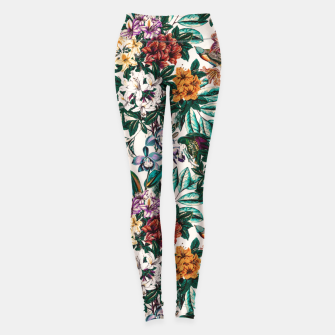 Miniatur Floral and exotic birds-0010 Leggings, Live Heroes