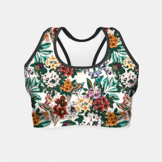 Thumbnail image of Floral and exotic birds-0010 Crop Top, Live Heroes