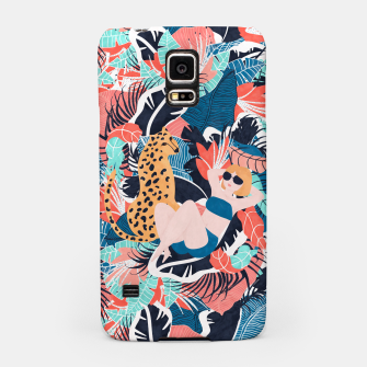 Yellow Hair Tropical Girl with Cheetah Samsung Case thumbnail image