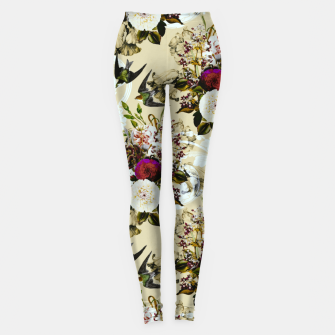 Miniaturka Baroque flower bouquet II Leggings, Live Heroes