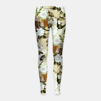 Thumbnail image of Baroque flower bouquet II Leggings para niña, Live Heroes