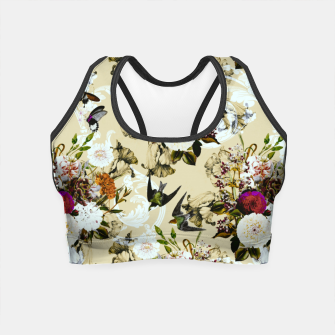 Thumbnail image of Baroque flower bouquet II Crop Top, Live Heroes