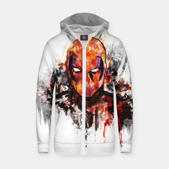 Miniatur deadpool Cotton zip up hoodie, Live Heroes