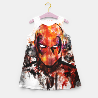 deadpool Girl's summer dress miniature