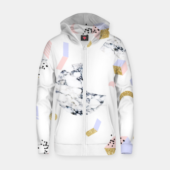 Miniaturka Marble Moon Abstraction Cotton zip up hoodie, Live Heroes