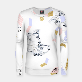 Miniaturka Marble Moon Abstraction Woman cotton sweater, Live Heroes