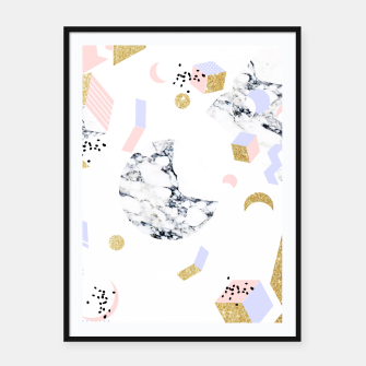 Miniaturka Marble Moon Abstraction Framed poster, Live Heroes