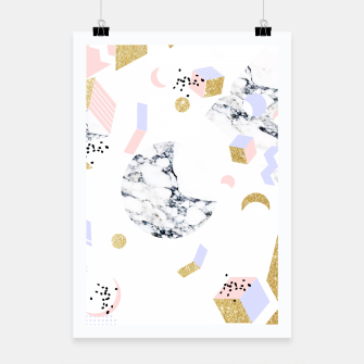 Miniaturka Marble Moon Abstraction Poster, Live Heroes