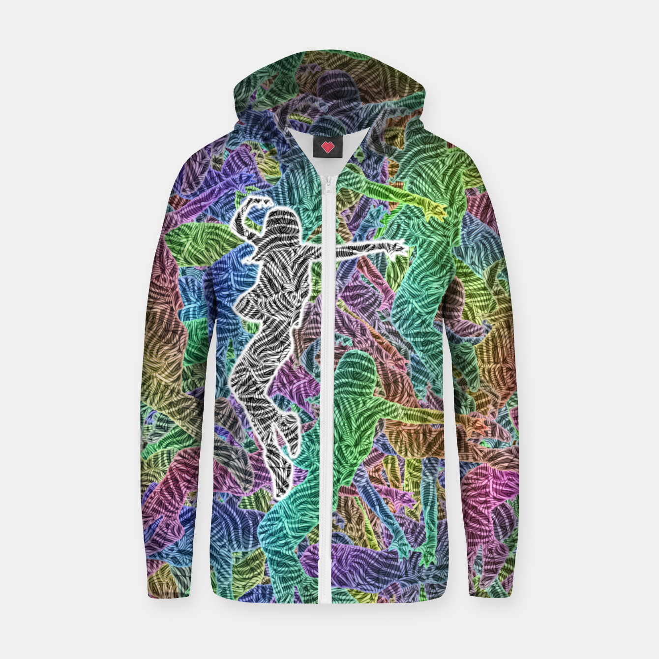 Image of Make Your Move Cotton zip up hoodie - Live Heroes