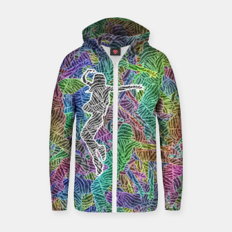 Thumbnail image of Make Your Move Cotton zip up hoodie, Live Heroes
