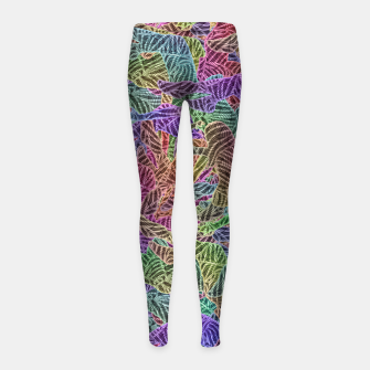 Thumbnail image of Make Your Move Girl's leggings, Live Heroes