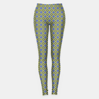 Thumbnail image of Yellow Blue  Leggings, Live Heroes