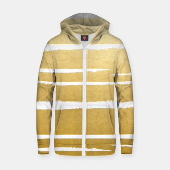Gold Vibes Only Cotton zip up hoodie thumbnail image