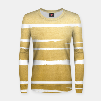 Thumbnail image of Gold Vibes Only Woman cotton sweater, Live Heroes