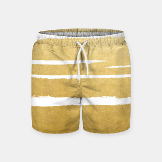 Thumbnail image of Gold Vibes Only Swim Shorts, Live Heroes