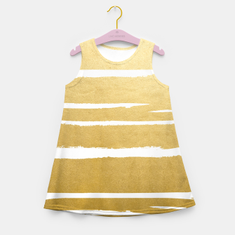 Gold Vibes Only Girl's summer dress thumbnail image