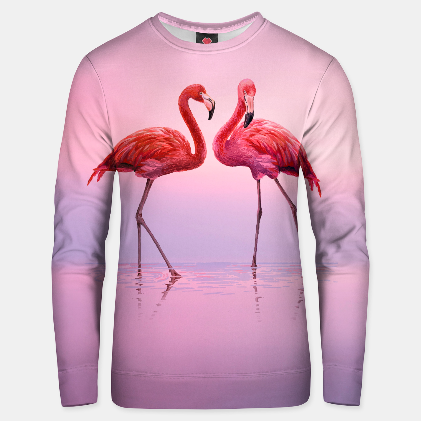 Image of Flamingos in Pink Cotton sweater - Live Heroes