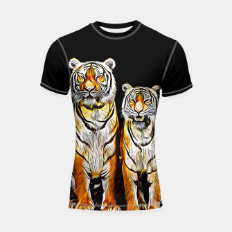 Thumbnail image of gxp tiger paar couple vector art kunst Shortsleeve rashguard, Live Heroes