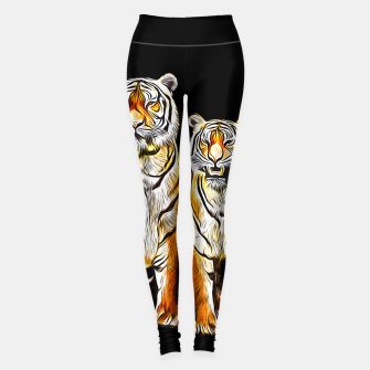Thumbnail image of gxp tiger paar couple vector art kunst Leggings, Live Heroes