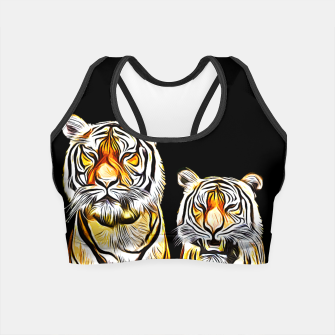Thumbnail image of gxp tiger paar couple vector art kunst Crop Top, Live Heroes