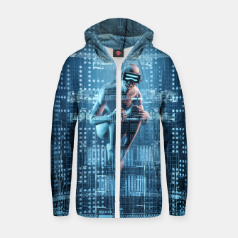 Thumbnail image of Virtual Dreams Reloaded Cotton zip up hoodie, Live Heroes