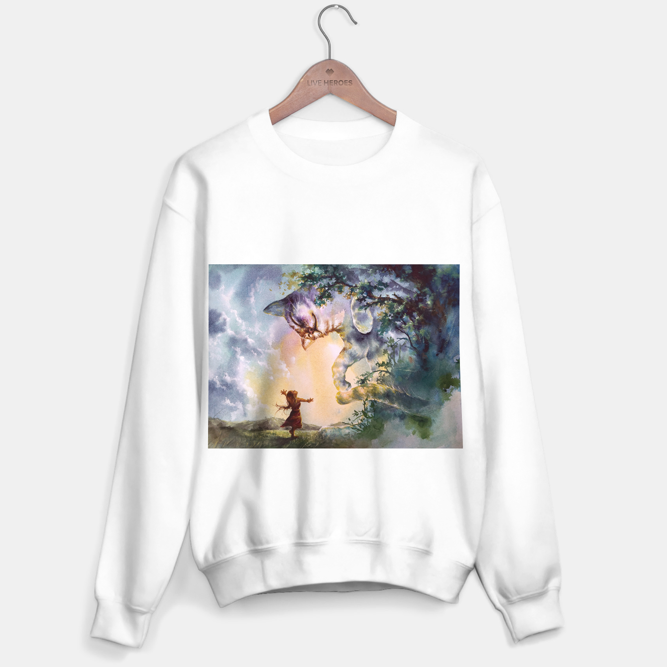 Image of The first story Sweater regular - Live Heroes