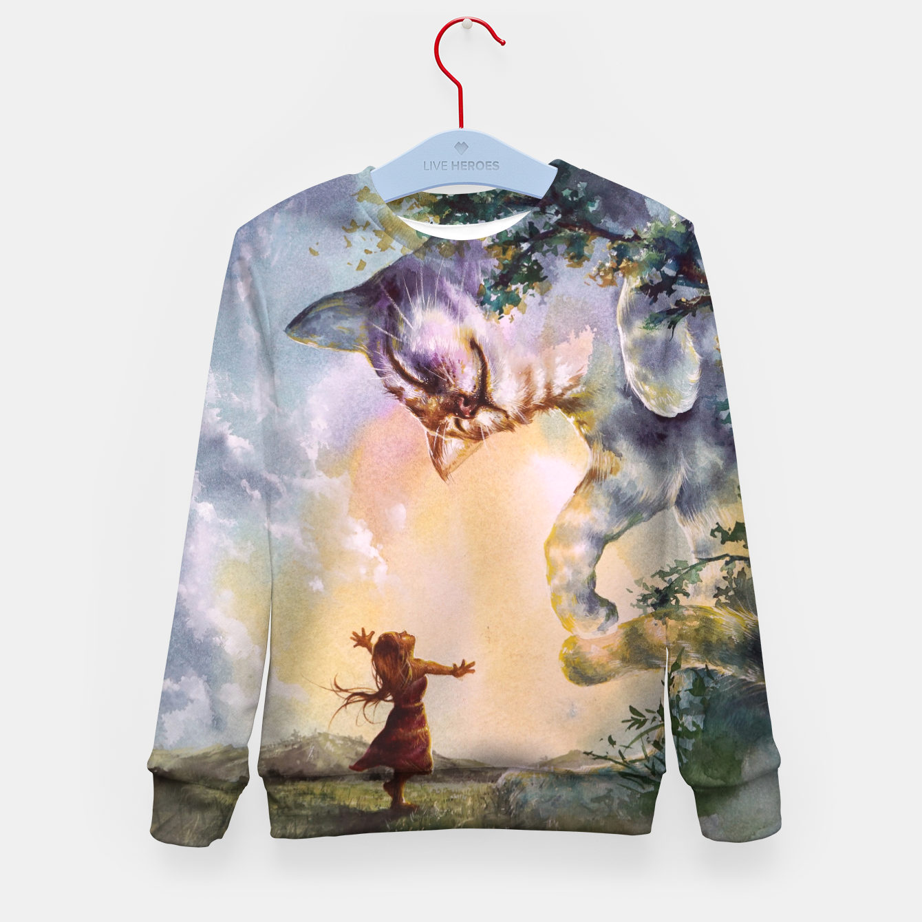 Image of The first story Kid's sweater - Live Heroes