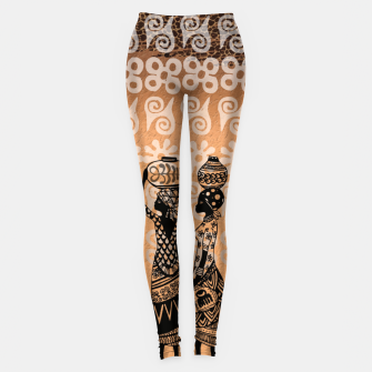 Thumbnail image of Black women Leggings, Live Heroes